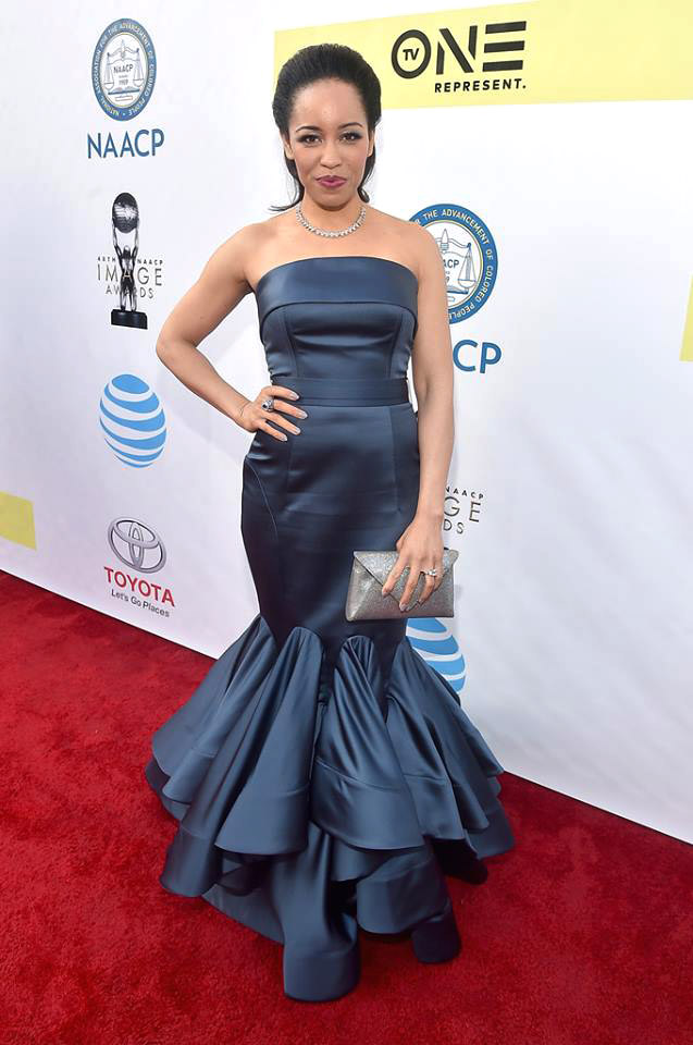 Dawn Lyen Gardner wearnig ring at 48th-NAACP awards
