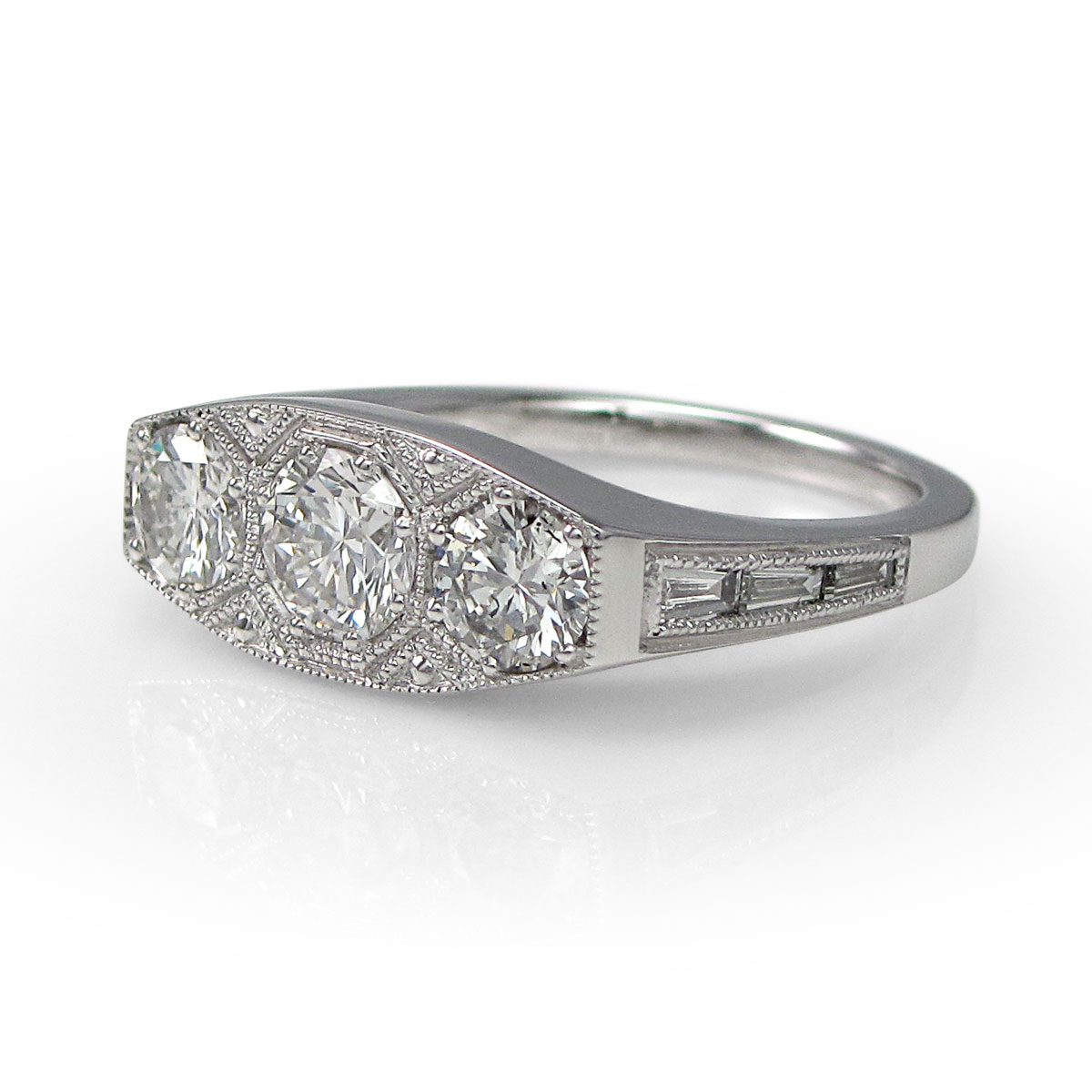 style bands ring engagement pear vintage round toronto diamond