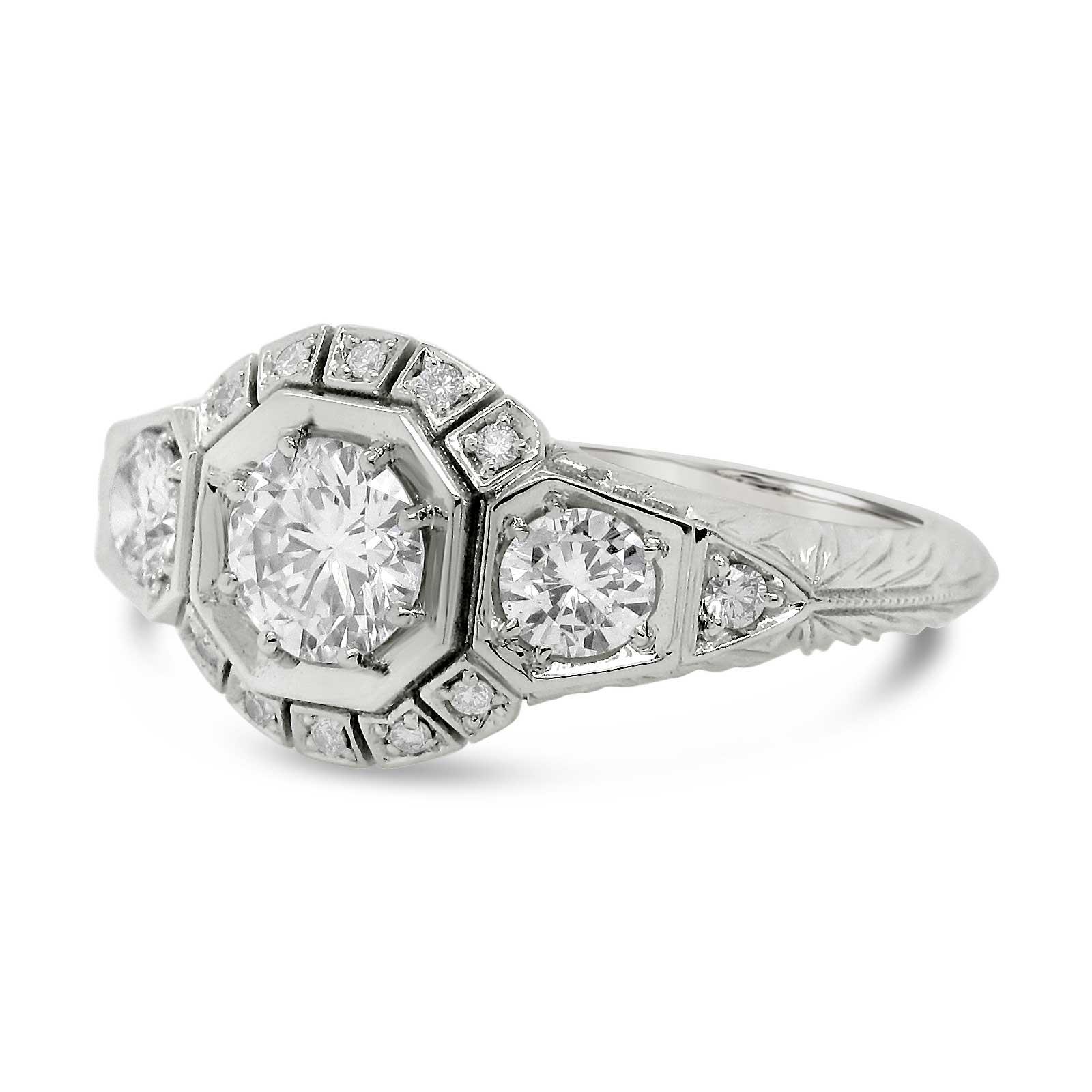 Custom Vintage Style Diamond Ring