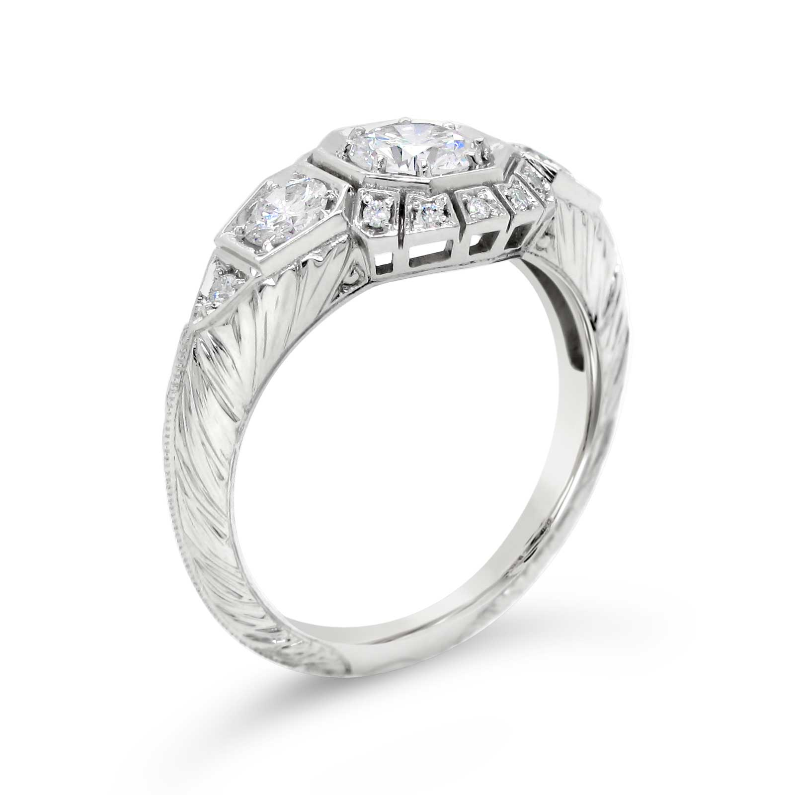 Custom Vintage Style Diamond Ring