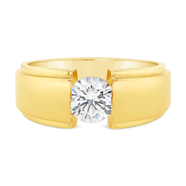 14k yellow gold man's ring